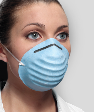 Surgical Crosstex Mask Face Molded